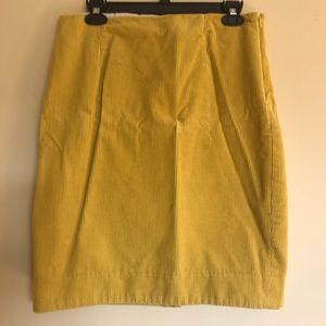 Anthropologie corduroy pencil skirt